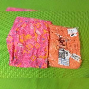 Lularoe Tc2 New Leggings lot pink, orange, solid